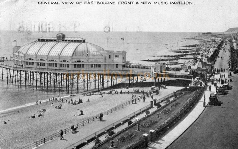 The New Music Pavilion, Eastbourne from a postcard sent in 1926 - Courtesy The East Dean & Friston Local History Group