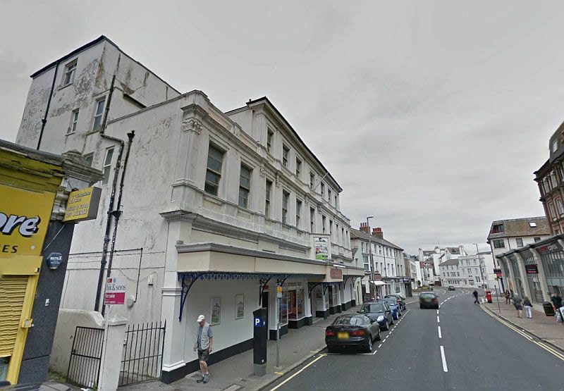 A Google StreetView Image of the Royal Hippodrome Theatre, Eastbourne today, formerly the Theatre Royal Eastbourne - Click to Interact.