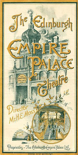 An Empire Palace Theatre Programme from 1897