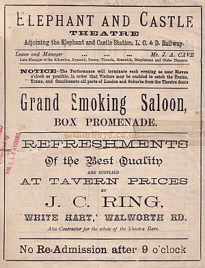 A Programme for 'Uncle Tom's Cabin' at the second Elephant & Castle Theatre on August the 29th 1885.