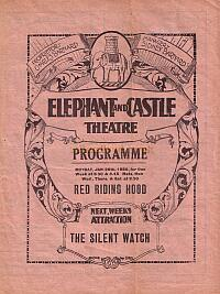 A programme for the Elephant & Castle Theatre