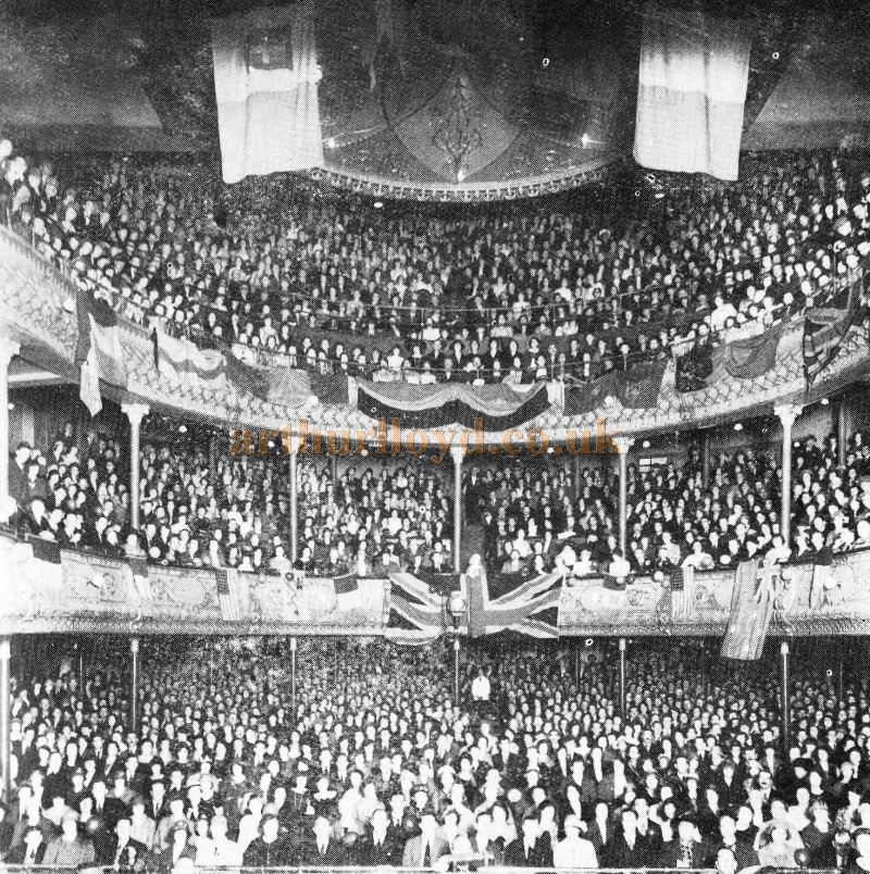 A packed audience at the Elephant and Castle Theatre celebrating the 550th performance of the Elephant Repertory Company on July the 6th 1926 - Kindly Donated by Carl Ridoutt.