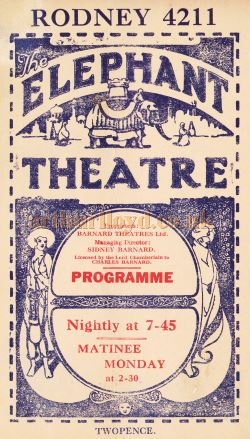 A Programme for the 'Flag Lieutenant' at the Elephant & Castle Theatre in October 1926 - Kindly Donated by Carl Ridoutt