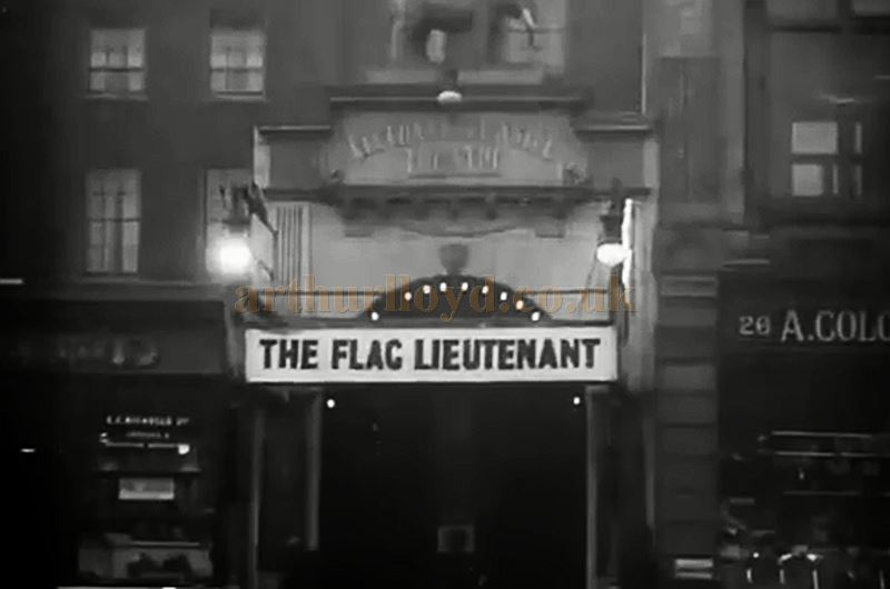 The Elephant & Castle Theatre during the run of 'The Flag Lieutenant' in 1926 - From the film 'London After Dark' from the BFI Channel.