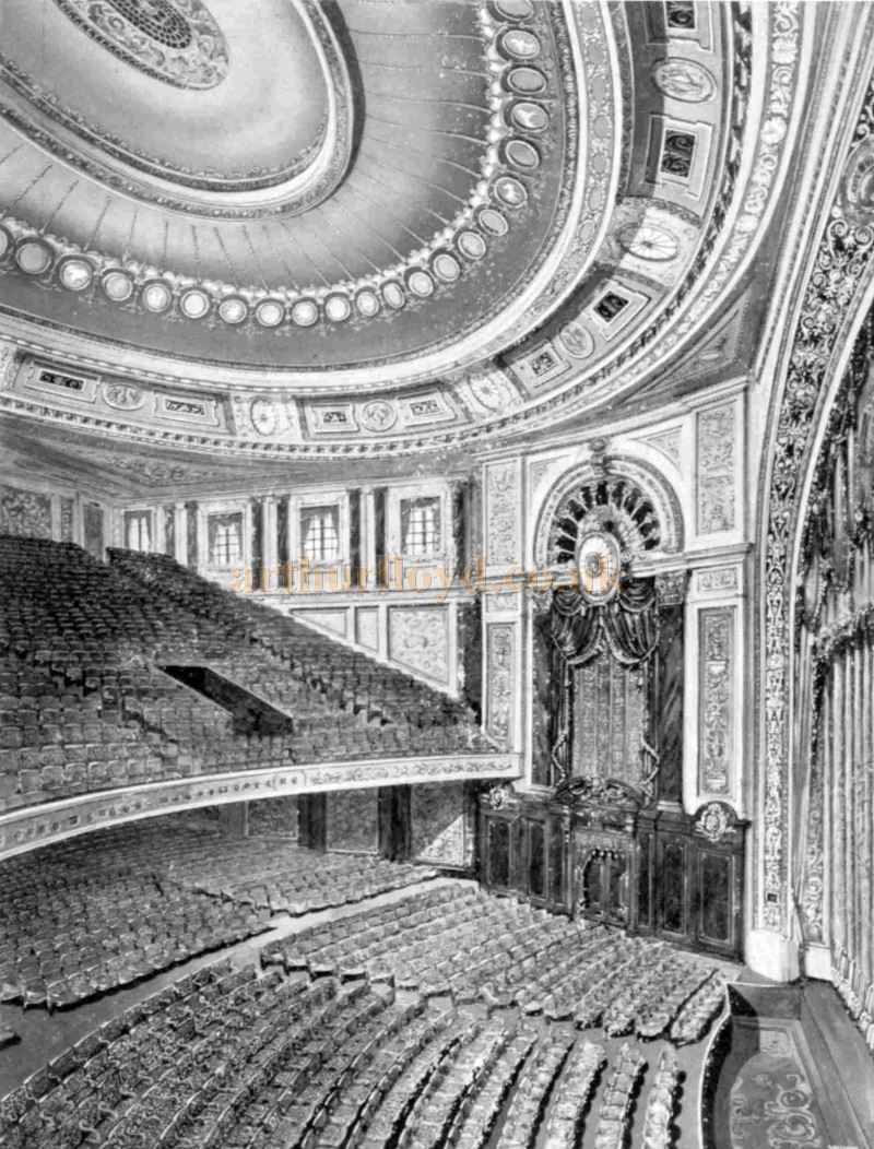 The Auditorium of the 1928 Empire, Leicester Square - From an Advertisement for Waring & Gillow Ltd, Decorations, Furnishings, Carpets and Draperies, in the Bioscope of March 27th 1929.