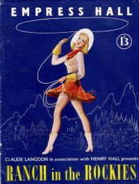 Programme for the Ice Spectacular 'Ranch in the Rockies' at the Empress Hall in the 1950s