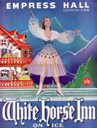 Programme for 'White Horse Inn on Ice' with MaxWall at the Empress Hall in the 1950s.