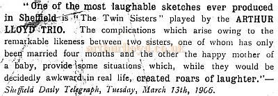 Review for The Twin Sisters 1906