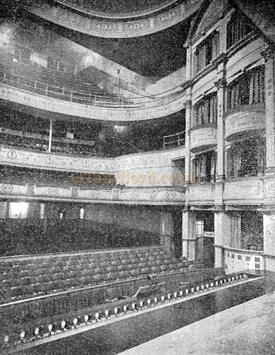 The auditorium of the Falkirk Grand Theatre as seen from from the stage - Courtesy Graeme Smith.