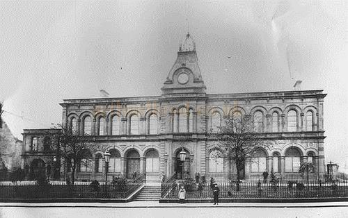 The frontage of the Town Hall, Falkirk - Courtesy Graeme Smith.