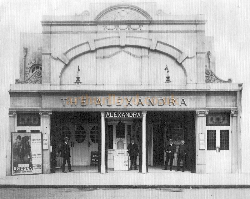 The former Alexandra Music Hall, Fareham whilst in use as a Cinema and Variety Theatre and showing the Film 'Arizona' - Courtesy Lyn Thompson.