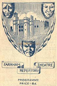 Farnham Repertory Company Programme for 'Castle in the Air' at the Castle Theatre, Farnham. - Courtesy Alan Chudley.