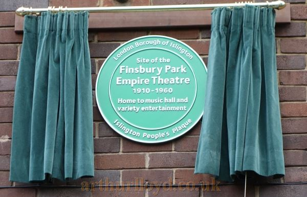 The Islington People's Plaque for the former Finsbury Park Empire which was unveiled at Vaudeville Court on the 10th of October 2017 - Courtesy Adam Harrison.