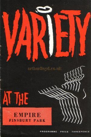 A Variety Programme for the Finsbury Park Empire dated August the 11th 1958