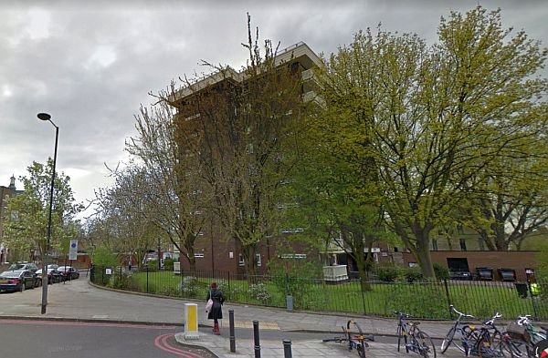 A Google StreetView Image of Vaudeville Court, which stands on the site of the former Finsbury Park Empire - Click to Interact.