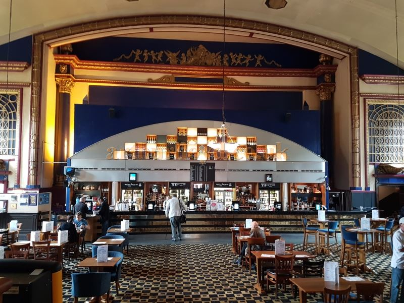 The Proscenium of the former Capitol Theatre, Forest Hill - Today a Weatherspoon's Pub - Photo M.L. July 2017.