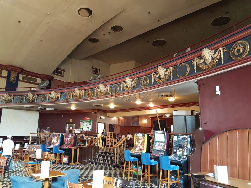 The Rear Stalls and Circle of the former Capitol Theatre, Forest Hill - Today a Weatherspoon's Pub - Photo M.L. July 2017.