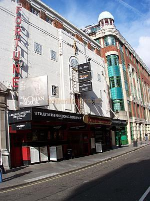 The Fortune Theatre during the run of 'Woman In Black' in October  2006 - Photo M.L.