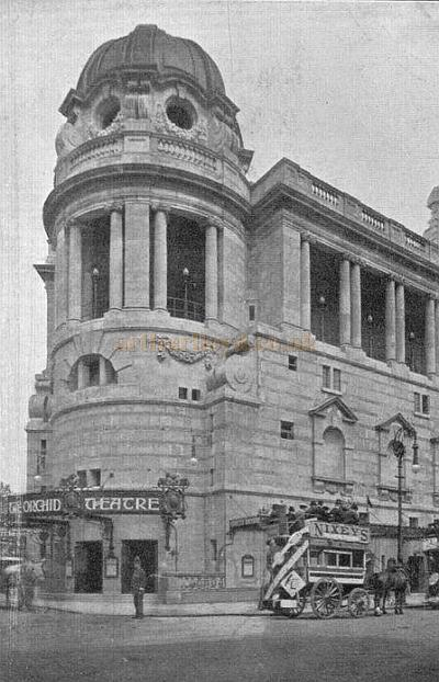 Postcard for the opening of the new Gaiety Theatre and it's first show (The Orchid) - 26th October 1904