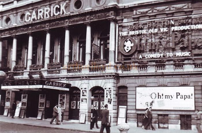 The Garrick Theatre during the run of 'Oh! my Papa!' in 1958 - Courtesy Gerry Atkins