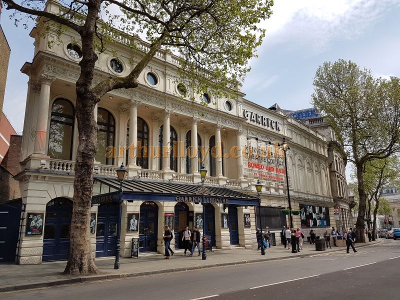 The Garrick Theatre during the run of Kenneth Branagh's production of 'Romeo and Juliet' in May 2016