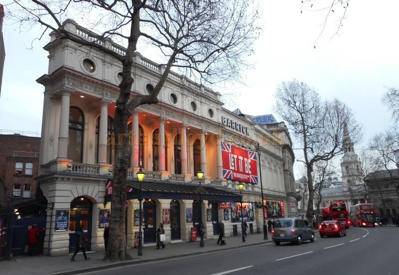 The Garrick Theatre during the run of 'Let It Be' in March 2015 - Photo M. L.