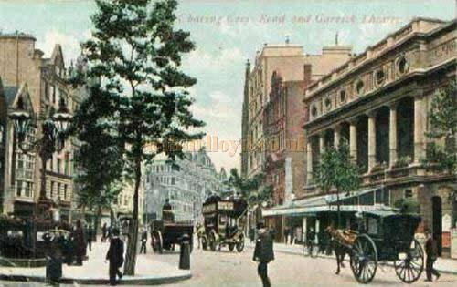 1905 Postcard of The Garrick Theatre .