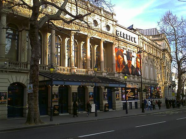 The Garrick Theatre during the run of 'Zorro' in February 2009 - Photo M.L.