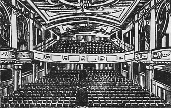 The Auditorium of the Gloucester Hippodrome - From an early Programme for the Theatre whilst under the control of Poole's Theatres Ltd. - Courtesy Peter Charlton.