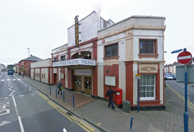 A Google StreetView Image of the New Olympus Theatre, Gloucester in 2008 - Click to Interact.
