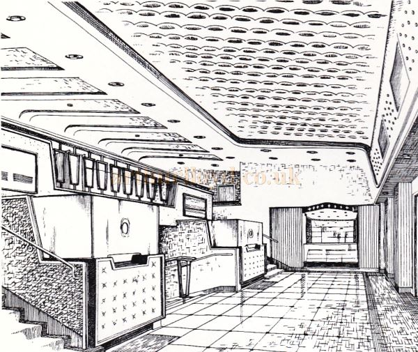The Entrance Hall of the Regal Theatre, Gloucester - From the Opening Souvenir Brochure for the Regal Theatre, Gloucester on the 19th of March 1956 - Courtesy Ron Knee.