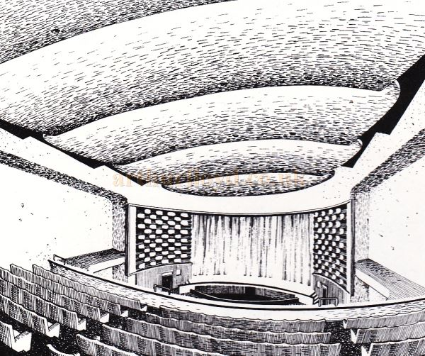 The Auditorium of the Regal Theatre, Gloucester - From the Opening Souvenir Brochure for the Regal Theatre, Gloucester on the 19th of March 1956 - Courtesy Ron Knee.