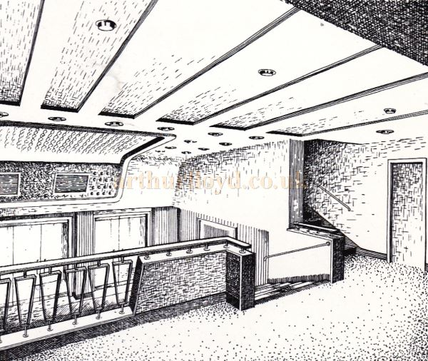 The Circle Foyer of of the Regal Theatre, Gloucester - From the Opening Souvenir Brochure for the Regal Theatre, Gloucester on the 19th of March 1956 - Courtesy Ron Knee.
