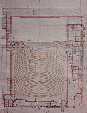 Bertie Crewe's original Stalls Plan of the Golders Green Hippodrome.