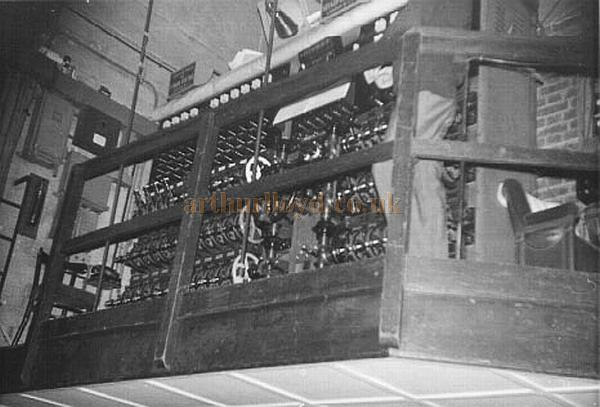 The Grand Master lighting control at the Golders Green Hippodrome in a photograph taken from the stage in 1968 - Courtesy Mike Luther.