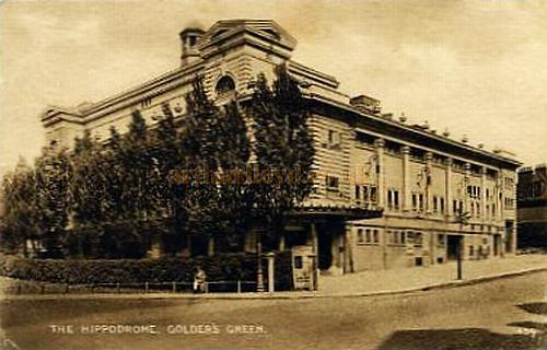 The Golders Green Hippodrome from an early postcard.