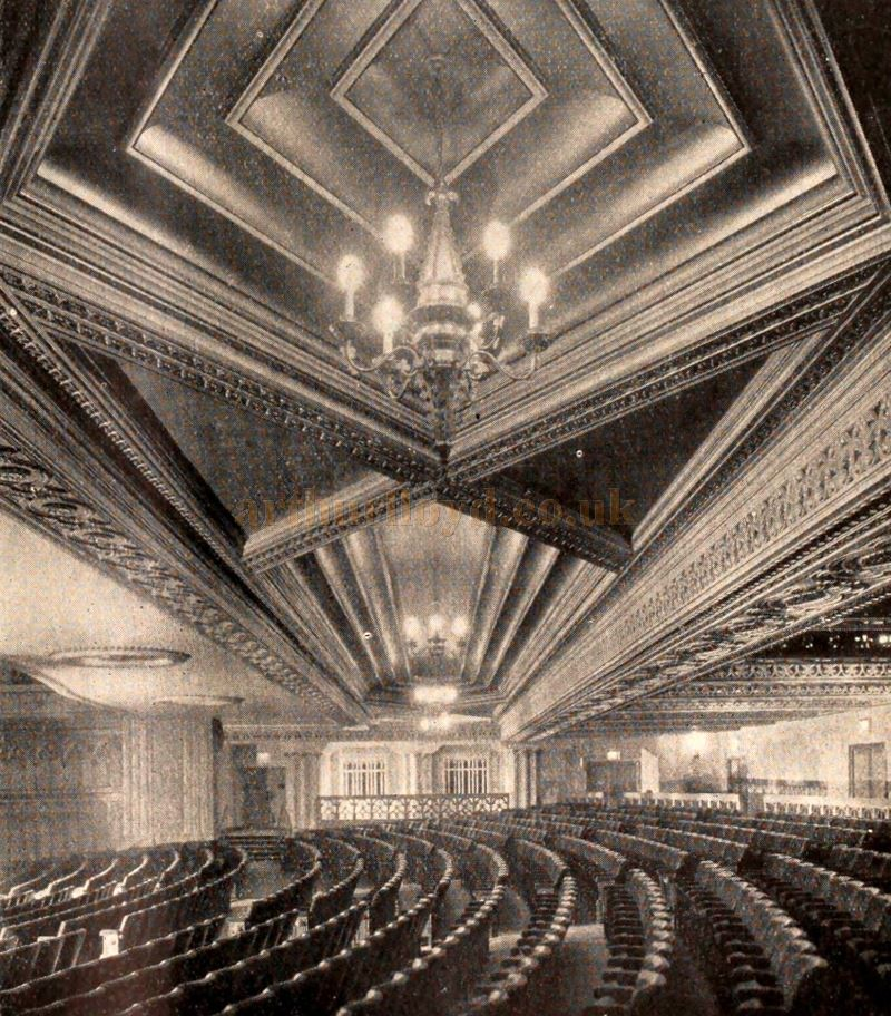 The Auditorium of the Granada Theatre, Tooting - From the Bioscope Cinema Magazine of September 1931.