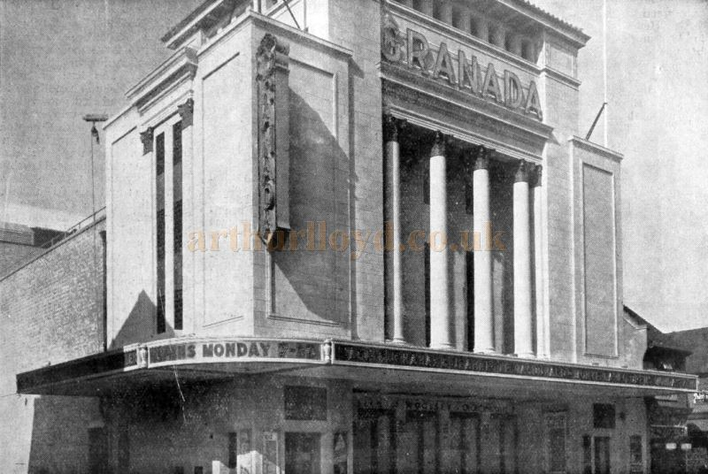 The Granada Theatre, Tooting - From a Chloride Batteries Advertisement in the Bioscope Cinema Magazine of October 7th 1931.