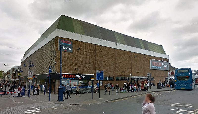 A Google StreetView Image of the site of the former Theatre Royal, Gravesend - Click to Interact.