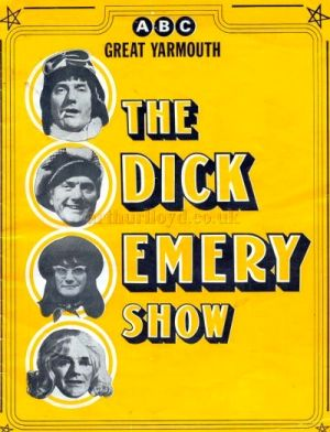 A Programme for 'The Dick Emery Show' at the ABC Theatre, Great Yarmouth in the 1970s - Courtesy Catherine Wall.