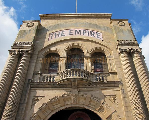 A detail of the facade of the Empire Theatre, Great Yarmouth in 2009 - Courtesy Paul Willetts.