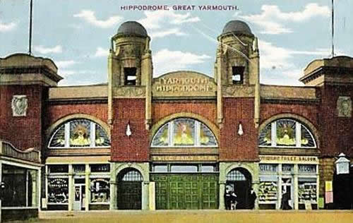 A postcard of the Great Yarmouth Hippodrome sent in 1917.
