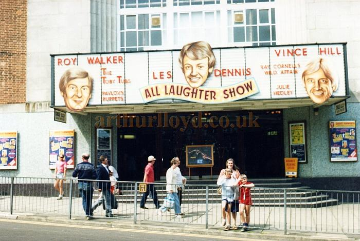 A photograph of the former Regal Cinema, Great Yarmouth, during the run of the Les Dennis 'All Laughter Show' in 1986 - Courtesy Martin Hough