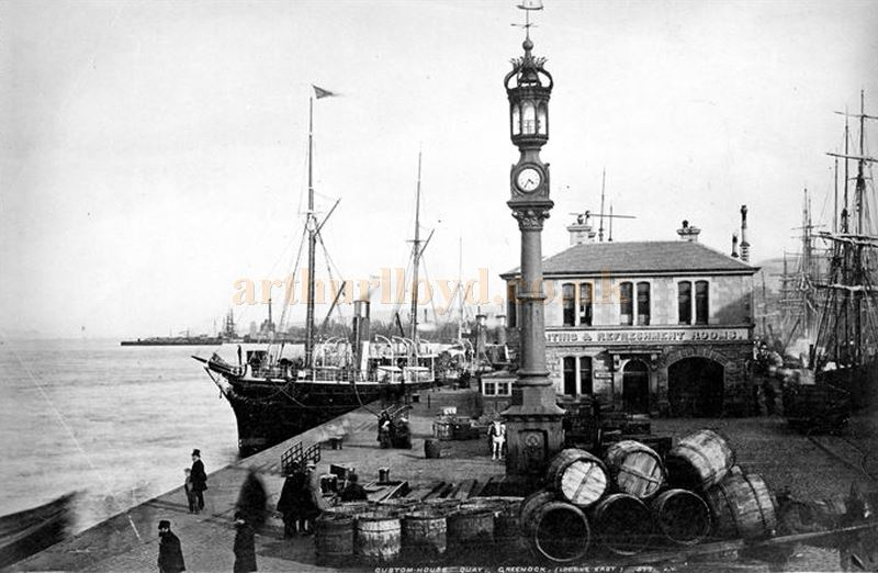 Custom House Quay postcard view by Valentine in the 1880s - Courtesy Graeme Smith