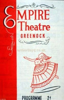 A Greenock Empire Theatre Programme cover - Courtesy Graeme Smith.
