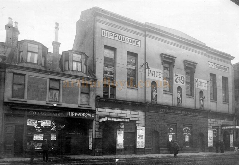 The Greenock Theatre Royal as the Hippodrome - Courtesy the McLean Museum & Art Gallery, Greenock.
