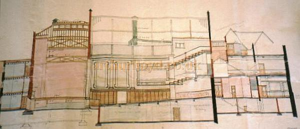 Plan of the Theatre Royal Guilford from the Surrey Local History files at Goldsworth Road Woking, Surrey. - Courtesy Alan Chudley.