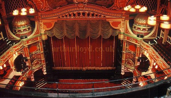 The Auditorium and Stage of the Hackney Empire 'From the Gods' in 1988 - Courtesy Ted Bottle.