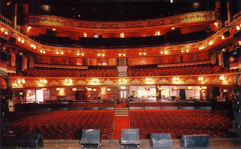 The Auditorium from the Stage of the Hackney Empire in 1988 - Courtesy Ted Bottle
