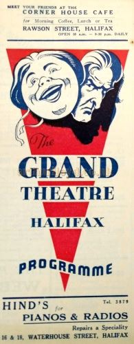 A Programme Cover for the Grand Theatre, Halifax - Courtesy the Halifax Library and Philip Paine.